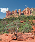 Scenic sandstone mountain range landscape Stock Images