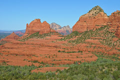 Scenic sandstone mountain range landscape Royalty Free Stock Photo