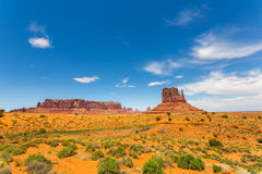 Scenic sandstones landscape at Monument Valley Stock Photos