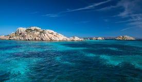 Scenic Sardinia island landscape. Italy sea coast with azure clear water. stock photos