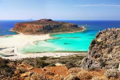 Sea Cliffs, Coast Landscape Beaches, Greek Islands, Crete,. Scenic sea cliffs, coast landscape and beaches, Greek Islands. Crete, Greece. Europe stock image