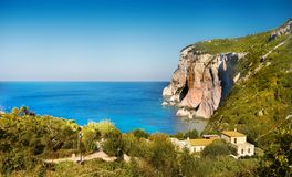 Sea Cliffs, Coast Landscape Beaches, Greek Islands, Cyclades. Scenic sea cliffs, coast landscape and beaches, Greek Islands. Cyclades - Greece. Europe royalty free stock photos