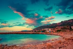 Tripoli, Lebanon. Scenic sea coast near Tripoli, Lebanon royalty free stock photo