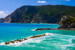 Scenic mediterranean sea with rugged coastline  Royalty Free Stock Image