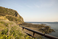 Scenic sea view at Jeju island South Korea. The scenic view area of the Jeju Island, South Korea, It's very quiet and remote from the city, really nice for long Royalty Free Stock Photo
