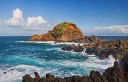 Scenic seascape from Madeira. Stock Photos