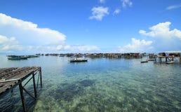 Scenic seaside view at Semporna Stock Image