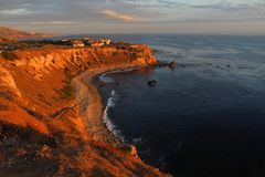 Pelican Cove on the Palos Verdes Peninsula, Los Angeles, California. Scenic and secluded, Pelican Cove is a wonderful place to walk and enjoy the views. The Royalty Free Stock Photo