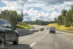 Sortavala highway, Leningrad region, Russia. Scenic section of Sortavala road, Leningrad region, Russia Stock Image