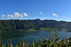 Scenic Sete Cidades on Sao Miguel in the Azores royalty free stock photo