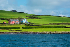 Scenic Settlement at Coast of Ireland Royalty Free Stock Photography
