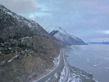 Scenic Seward highway of Alaska royalty free stock image