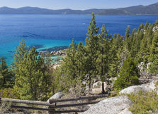 Scenic Shoreline of Lake Tahoe. Beautiful Clear Water Shoreline of Lake Tahoe Royalty Free Stock Photography