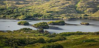 Scenic sight along the Ring of Kerry in Ireland. The amazing countryside of County Kerry in Ireland Royalty Free Stock Images
