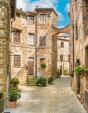 Scenic sight in Anghiari, in the Province of Arezzo, Tuscany, Italy. Anghiari is a hilltop town and comune in the Province of Arezzo, Tuscany, Italy. Bordering stock images