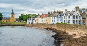 Scenic sight in Anstruther in a summer afternoon, Fife, Scotland. stock photo