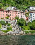 Scenic sight in Brienno, on the Como Lake, Lombardy, Italy. Royalty Free Stock Image