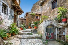 Scenic Sight In Calcata, Viterbo Province, Lazio, Italy. Stock Photography