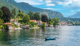 Scenic sight in Lenno, beautiful village overlooking Lake Como, Lombardy, Italy. royalty free stock image