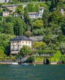Scenic sight in Moltrasio, on Lake Como, Lombardy, Italy. Moltrasio is situated on the western bank of the south-western end of Lake Como, famous for its royalty free stock photo