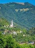 Scenic sight in Ossuccio, small and beautiful village overlooking Lake Como, Lombardy Italy. Ossuccio is a comune in the Province of Como in the Italian region royalty free stock image