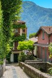 Scenic sight in Ossuccio, small and beautiful village overlooking Lake Como, Lombardy Italy. Ossuccio is a comune in the Province of Como in the Italian region stock image