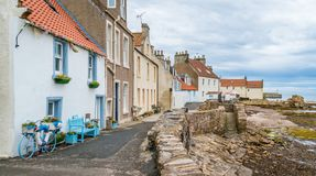Scenic sight in Pittenweem, in Fife, on the east coast of Scotland. Pittenweem is a fishing village and civil parish in Fife, on the east coast of Scotland royalty free stock image