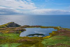 Scenic sight in the Slieve League, County Donegal, Ireland. Sliabh Liag, sometimes Slieve League or Slieve Liag, is a mountain on the Atlantic coast of County royalty free stock photography