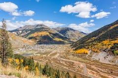 Scenic Silverton Colorado in Autumn. A scenic landscape of colorful silverton colorado in fall Royalty Free Stock Photos
