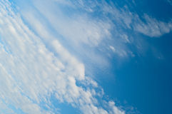 Scenic sky with white clouds Stock Image