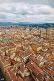 Scenic Skyline View of Florence Firenze City. Scenic Skyline View of Florence. City Famous Art City in Renaissance Era, Florence, Tuscany, Italy Stock Photography