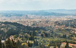 Fiesole, Tuscany, Italy. Scenic Skyline View of Florence. Tuscany, Italy Royalty Free Stock Image