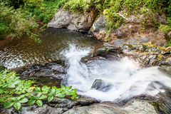 Scenic small waterfall at north in Thailand Stock Photography