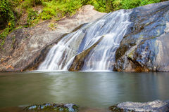 Scenic small waterfall at north in Thailand Royalty Free Stock Photography
