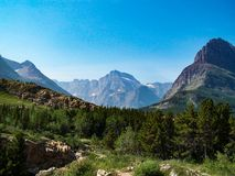 Scenic Snow-Capped Mountains Glacier National Park stock images