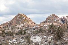 Granite Dells Winter Landscape Stock Photo