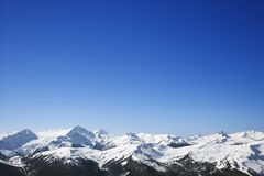 Scenic snow-covered mountains. Royalty Free Stock Photos