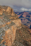 Scenic South Rim Grand Canyon in Winter Royalty Free Stock Images
