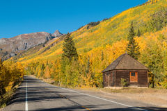 Scenic Southwest Colorado Highway in Fall Stock Image