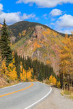 Scenic Southwest Colorado highway in Fall Royalty Free Stock Images