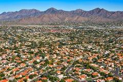 Scenic Southwest Suburban Sprawl Royalty Free Stock Photos