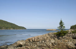 Scenic St. Lawrence River at Le Bic Royalty Free Stock Photography