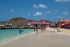 Scenic St Maarten Beach Stock Photo