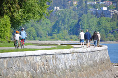Scenic Stanley Park Seawall Royalty Free Stock Images