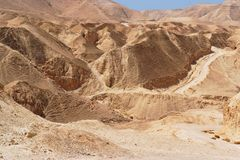 Scenic stone desert near the Dead Sea Stock Image