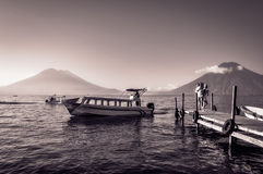 Scenic Stopover on the tour of Lake Atitlan, Guatemala Royalty Free Stock Images