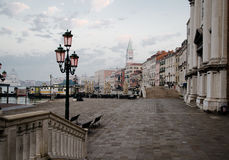 Scenic street view in Venice in early morning Royalty Free Stock Photography