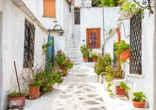Free Scenic Street With Old Houses In Anafiotika In Plaka District, A Royalty Free Stock Photo - 121420535