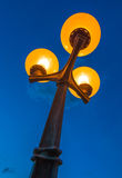 Scenic Streetlamp and Cloudy Night Sky Stock Photography