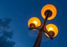 Scenic Streetlamp and Cloudy Night Sky Royalty Free Stock Image